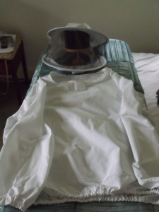 White beekeeping jacket