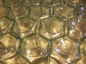 Hexagonal honey jars