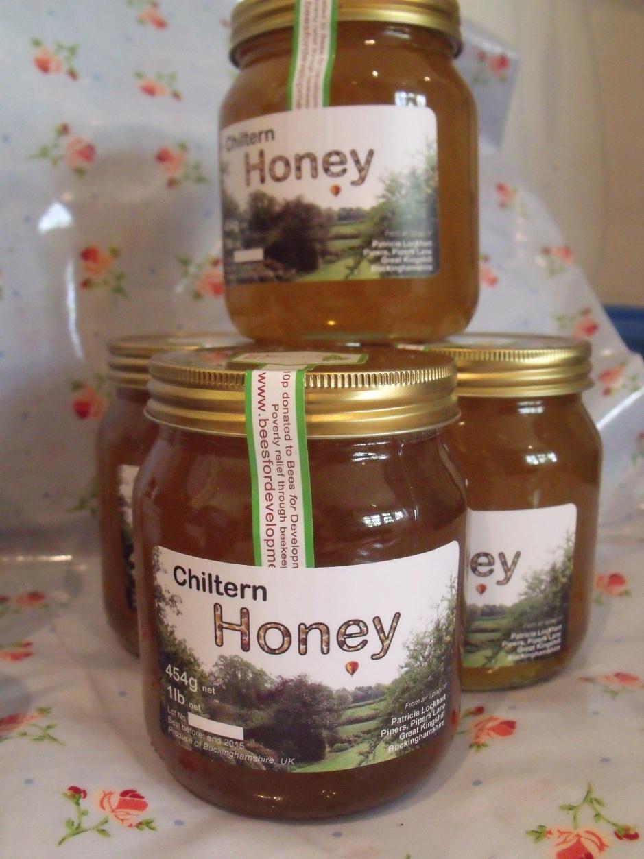 Full pound jars of Chiltern Honey