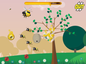Screen shot of country world from The Pollinator applet